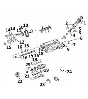 descriptif pièces internes bas moteur V8 / 5.0L / 305