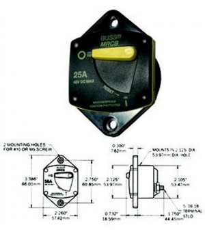 disjoncteur thermique unipolaire 60 amps