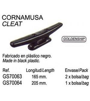 taquet plastique noir 205 mm