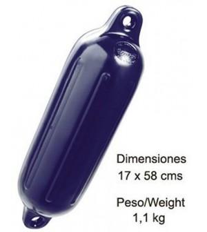 pare-battage bleu 17x58cm