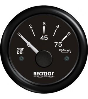 compteur pression d'huile 0/5 bar 10-184° noir