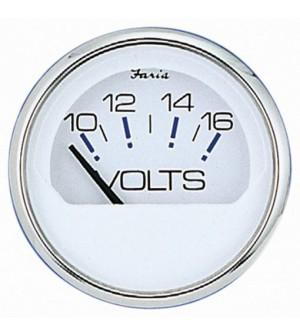 compteur voltmetre 12 volt blanc /inox