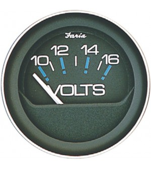 compteur voltmetre 12 volt noir