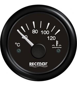 compteur température d'eau 40/120°C noir