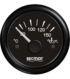 compteur de température d'huile 50/150°C noir