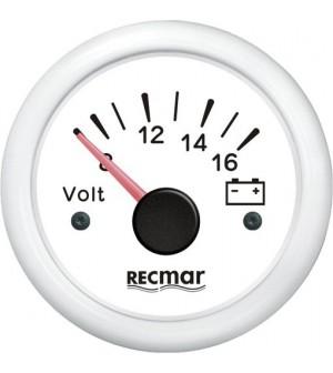 compteur voltmètre 8-16 volts noir