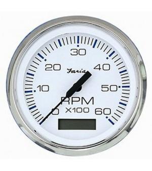 compte tours et heures diesel blanc 4000 tr/mn