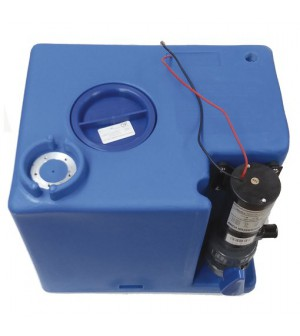réservoir d'eaux noires 56 litres avec pompe macératrice