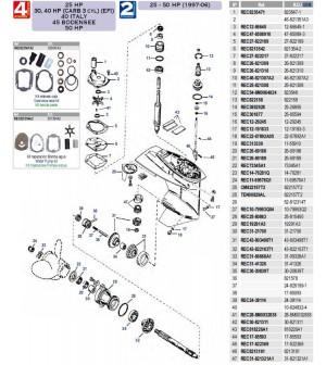 25cv-30/40cv(carb 3 cyl)(EFI)-40cv italie-45cv bodensee-50cv 4 temps