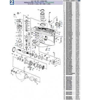"V4/V6 ""M"" (1992 à 2006) ratio V4 2.25:1(.44) V6 1.86:1(.54)"