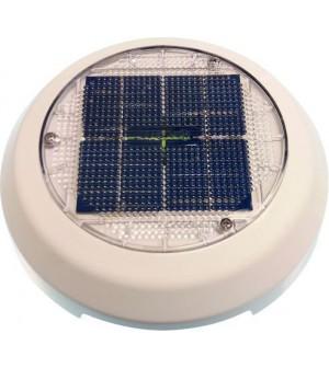 """ventilateur solaire 4"""" en pvc blanc"""
