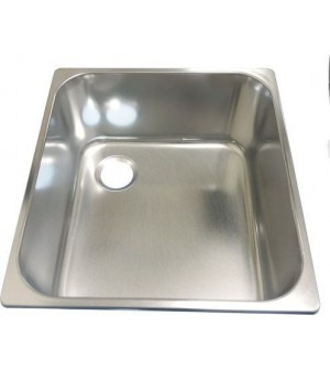 Evier inox rectangulaire ext 325x350mm