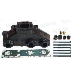 Collecteur d'échappement pour Mercruiser V6 kit de montage inclus